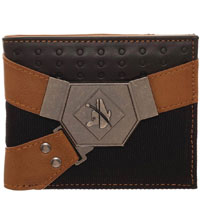 Image: Star Wars Bi-Fold Wallet: Han Solo Metal Badge  - Bioworld Merchandising