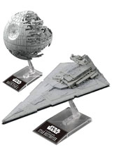 Image: Star Wars Model Kit Set: Death Star II & Star Destroyer  - Bandai Hobby