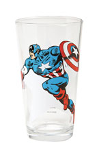 Image: Toon Tumblers Marvel Clear Pint Glass: Classic Captain America  -