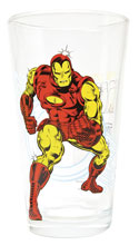Image: Toon Tumblers Marvel Clear Pint Glass: Classic Iron Man  -
