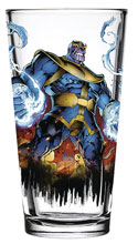 Image: Toon Tumblers Marvel Clear Pint Glass: Thanos  -