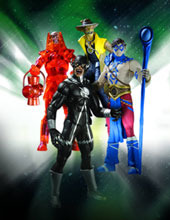Image: Blackest Night Series 8 Action Figure: Indigo Tribe Atom  - DC Direct
