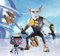 Image: Ratchet & Clank Series 2 Action Figure: Azimuth with Orvus  - DC Direct