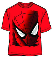 Image: Spider-Man: Peeping Spidey Red PX T-Shirt  (M) - Mad Engine