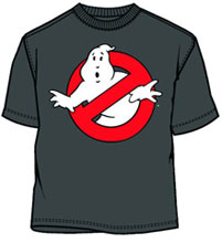 Image: Ghostbusters: Ghost Logo GID Charcoal PX T-Shirt  (M) -
