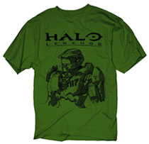 Image: Halo Legends: Master Chief Sketch Olive PX T-Shirt  (M) -