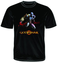 Image: God of War III: Krato's Action Black T-Shirt  (L) -