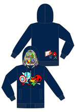 Image: Tokidoki X Marvel: Vs. Red Skull Zip-Up Hoodie  (S) -