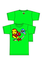 Image: Tokidoki X Marvel: Touchdown Green T-Shirt  (XL) -