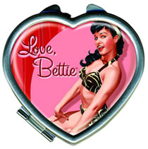 Image: Bettie Page: Hot Rod - Heart Compact  - Dark Horse
