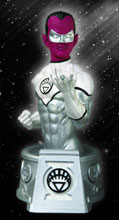 Image: Heroes of the DC Universe Bust: Blackest Night White Lantern Sinestro  - DC Select