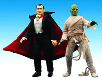 Image: Universal Monsters Series 2 Retro Cloth Action Figure Set: Dracula / Mummy  - Diamond Select Toys