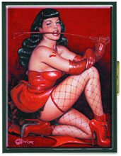 Image: Bettie Page: Red Devil Cigarette Case  - Dark Horse Comics