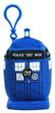 Image: Doctor Who Plush Clip-On: Tardis  (4-inch) -