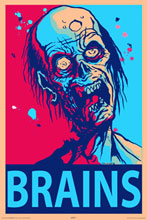 Image: Zombie Brains Wall Poster  -
