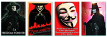 Image: V for Vendetta 4-Piece Magnet Set  -