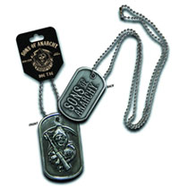 Image: Sons of Anarchy: Reaper Dog Tag Necklace  -