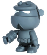 Image: Hellboy 5-inch Mini-Qee: Grey Monotone  - Dark Horse Comics