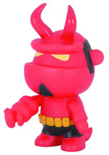 Image: Hellboy 5-inch Mini-Qee: Hellboy with Horns  - Dark Horse Comics