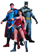 Image: DC Comics New 52 Action Figure 3-Pack: Batman, Wonder Woman & Superman  - DC Direct
