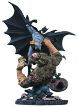 Image: Batman vs. Killer Croc Statue  (2nd edition) - DC Direct