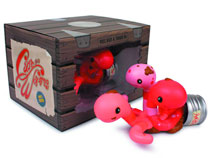 Image: Can of Worms Vinyl Figure  (Pink version)