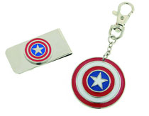 Image: Captain America: Money Clip & Keychain Box Set