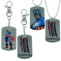 Image: Captain America: Dog Tag & Keychain Box Set