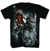 Image: Guardians of the Galaxy: Fully Loaded T-Shirt [Black Spiral]  (M) -