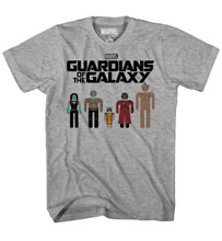 Image: Guardians of the Galaxy: Circle Heads T-Shirt [Charcoal Heather]  (L) -
