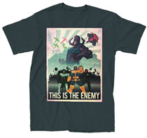 Image: Marvel Villains: This is the Enemy T-Shirt [Black]  (M) -