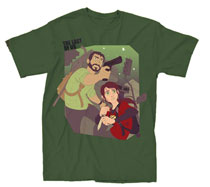 Image: Last of Us: Just the Two of Us T-Shirt [Dark Olive]  (L) -