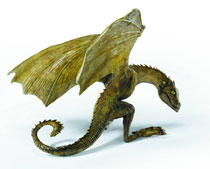Image: Game of Thrones Baby Dragon Resin Statue: Rhaegal  -