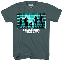 Image: Guardians of the Galaxy: The Line Up T-Shirt [Navy Faded]  (S) -