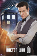 Image: Doctor Who Rolled Poster: Matt Smith & Tardis  -