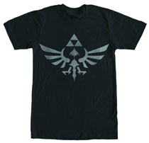 Image: Legend of Zelda T-Shirt: Skyward Sword - Triforce [Black]  (XL) -