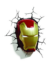 Image: Marvel 3D Night Light: Iron Man Mask  -