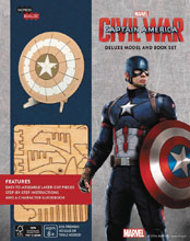 Image: Incredibuilds: Captain America Deluxe Model and Book  - Insight Editions