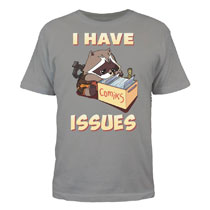 Image: Guardians of the Galaxy T-Shirt: 'I Have Issues' [Silver]  (XXL) - Mighty Fine