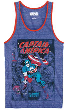 Image: Captain America Tank Top: Issue 112 [Royal Snow Heather]  (L) - Mad Engine
