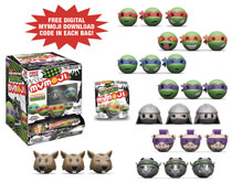 Image: Mymoji Teenage Mutant Ninja Turtles Series 1 24-Piece Blind Mystery Box Display  - Funko