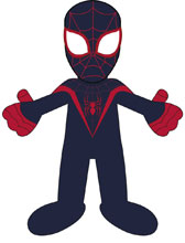 Image: Marvel Heroes Plush: Spider-Man Miles Morales  (10-inch) - Bleacher Creatures