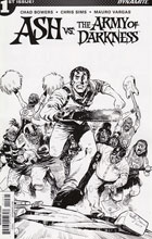 Image: Ash vs. the Army of Darkness #1 (Brown b&w incentive cover - 01061) (20-copy) - Dynamite