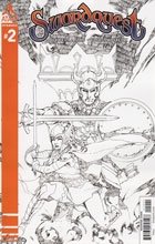 Image: Swordquest #2 (Rubi b&w incentive cover - 02041) (10-copy) - Dynamite