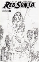 Image: Red Sonja Vol. 04 #7 (Rubi b&w incentive cover - 07081) (30-copy) - Dynamite