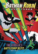Image: Batman & Robin Adventures Young Reader: Riddlers Battleship Blitz SC  - Stone Arch Books