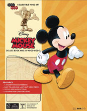 Image: Incredibuilds: Mickey Mouse Deluxe Model  (w/Book) - Insight Editions