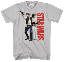Image: Star Wars T-Shirt: Han Not Solo Softhand Ink [Silver]  (XL) - Mad Engine