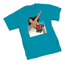 Image: Wonder Woman T-Shirt: Clouds  (L) - Graphitti Designs