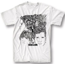 Image: Star Wars T-Shirt: Rebellion Cover [White]  (L) - Mighty Fine